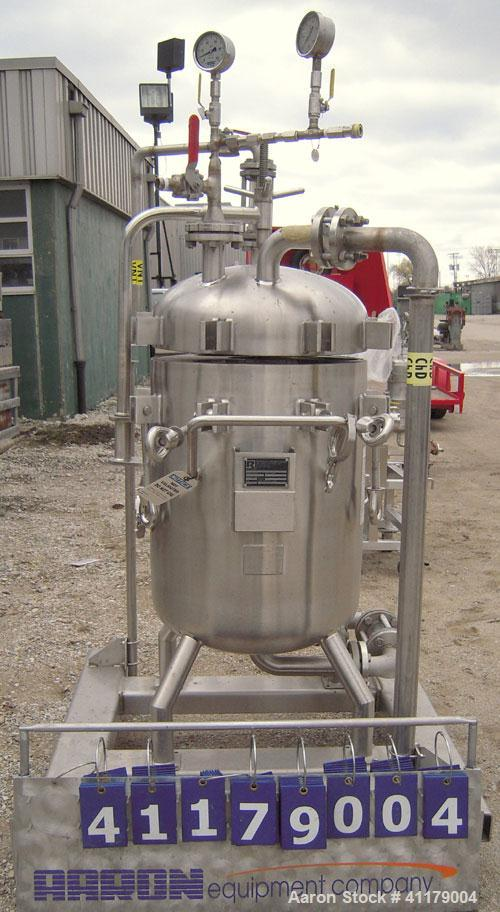 Used- Rosedale Multi-Bag Filter, Model 24302F1150S316TN-PB, 316 Stainless Steel.  26.4 square feet filter area, 600 gallons ...