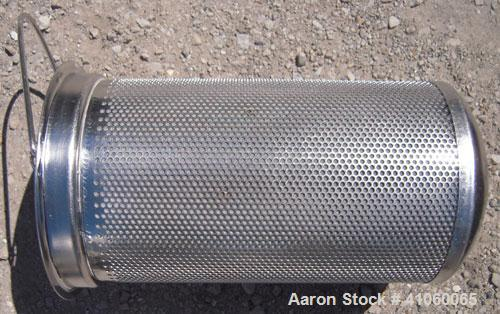 Used- Rosedale Products Mesh Basket Filter, Model 8-15-2P-1-150-CS-T-S-BM, 304 Stainless Steel. 2.3 square feet, rated up to...