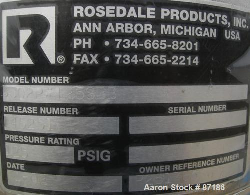 """USED: Rosedale mesh basket filter, model 8302#125SBB, 304 stainless steel. Approximate 4.4 square feet filter area. 8-1/2"""" d..."""