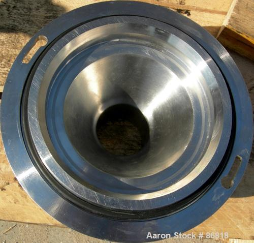 "USED- Russell Fines Eco Self-Cleaning Vertical Filter, Model EF502/0001/N, 316 Stainless Steel. Approximate 6"" diameter x 14..."