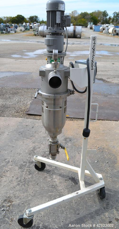 "Used- Russell Finex Eco Self-Cleaning Vertical Filter, Model EF26500, 316 Stainless Steel. Approximately  6"" diameter x 14"" ..."