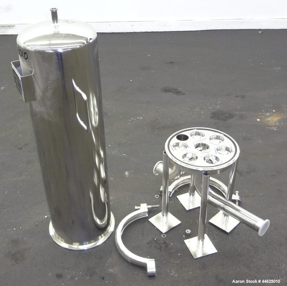 Used- Stainless Steel Sartorius Cartridge Type Filter Housing, Model 8PJ17825030
