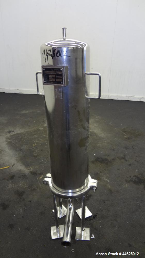 Used- Stainless Steel Sartorius Cartridge Type Filter Housing, Model 8PJ17825030