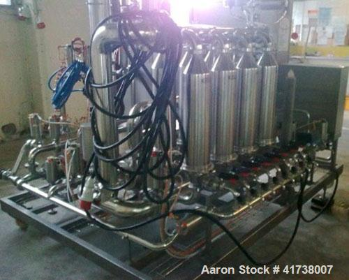 Used-Sartorius Cross Flow Filter, Model K-40-8-1/A. Stainless steel, filter area 40 square meters, automatic water flushing....