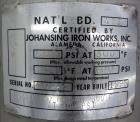Used- Johansing Iron Works Pressure Cartridge Filter, 304 Stainless Steel. Approximate 7