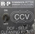 Used- Ronningen-Petter Self Cleaning Mechanical Filter, model  DCF-400, 316 stainless steel. Flow rate 2-30 gallons per minu...