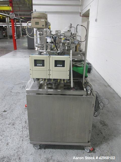 "Used- GE Healthcare Uniflux Ultrafilter. Stainless steel construction, approximately 1 gallon stainless steel vessel (5"" dia..."
