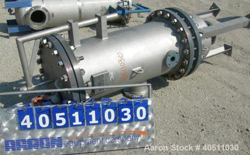 Used- USF Filtration Separators Teflon Lined Filter, model T940450-000, type 120FH4-316L-6FD-C150-222ECTFE 90MILS, 316L stai...