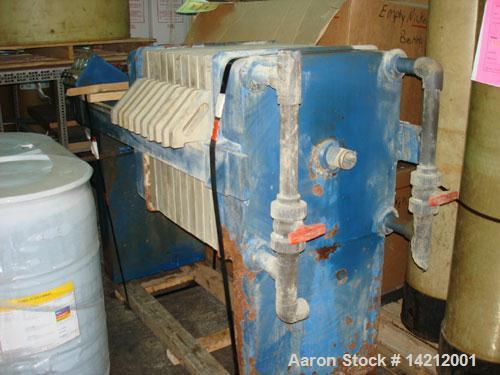 Unused-Used JWI (US Filter - Siemens) 2 cu ft Filter Press. Automatic, air/hydraulic. Seal replaced, hydraulics now go to 5,...