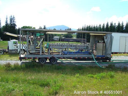 Used-BDP Industries mobile belt filter press, model 3DP. One (1) meter capacity, 3.2 meter wide belt, 290 mm long x 164 mm w...