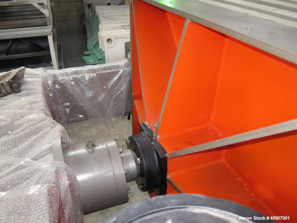 Unused - Hydraulic Filter Press. Automated open and impact mechanism.
