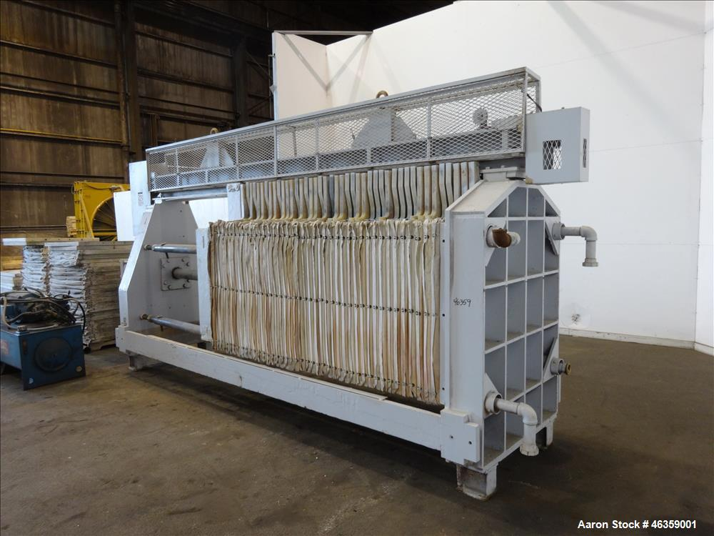 Used-Filter Press, Carbon steel frame with 43 polypropylene plates.