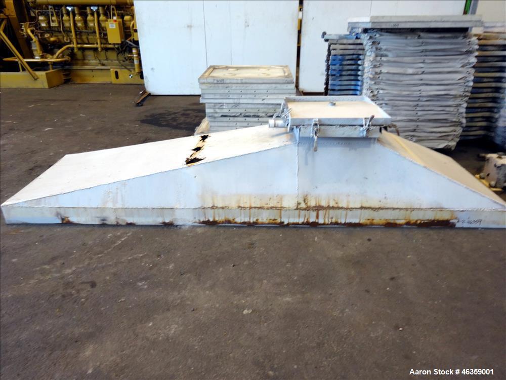 Used-Filter Press, Carbon steel frame with 43 polypropylene plates.