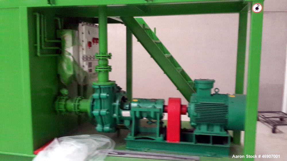 Unused- Filter Press Plant. High pressure auto program chamber filter press. Feeding pressure: up to 17 bar. Plate size: 150...