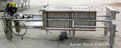 USED: APV Carlson polishing press, 304 stainless steel, 22 stainless steel plates 22 x 22. Approximately 370 square feet of ...