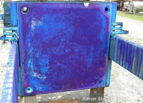 "USED: Avery Filter Press, carbon steel frame. (53) 48"" x 48"" polypropylene plates, approximately 832 square feet filter area..."