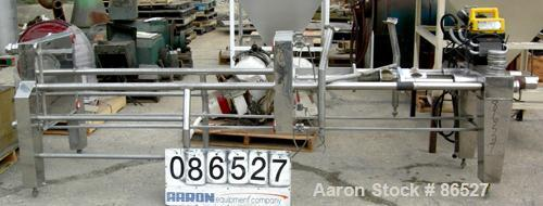 """USED: Carlson Ford Ltd polishing press skeleton (frame only). Requires 22"""" x 22"""" plates. 2"""" corner feed/discharge, Enerpac h..."""