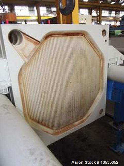"Used-Choquenet Filter Press.  Equipped with 60 polypropylene trays 31.5"" x 31.5"" (800 x 800 mm) of 65 m2.  Volume of 30.7 cu..."