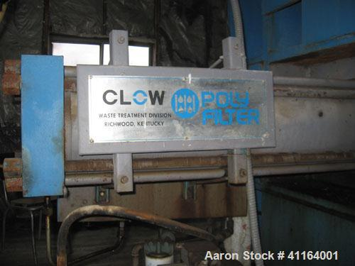 Used-Clow Poly Filter Press, Model 51-0704. Haskel air driver fluid pump, 150 psi air, 9800 psi liquid, assembly AWB60, 60:1...