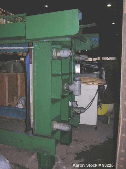 "USED: Duro Filter Press, carbon steel frame. (36) 48"" x 48"" polypropylene plates, 43.75 cubic feet cake capacity, approximat..."