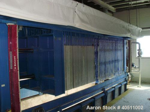 """Used- Durco Filter Press. (58) 47"""" x 47"""" x 2 1/2"""" thick x 1/2"""" recess polypropylene overhead suspended plates, (1) head, (1)..."""
