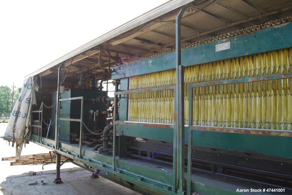 "Used- Durco Filter Press. QP1200/25-46/56.  Quadra press. (58) 48"" x 48"" Polyprop plates. Discharge conveyor. Trailer mounte..."