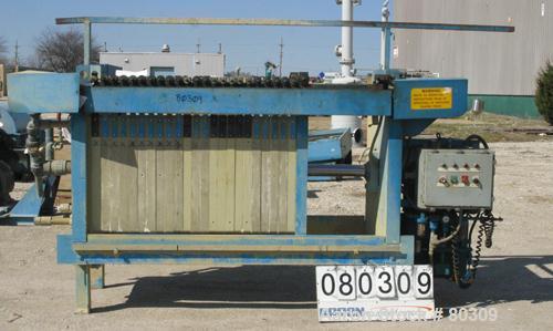 "USED: Durco Quadra Press, 23 polypropylene plates 31"" x 31"" x 2"", 1/2"" recess, 5.21 cubic foot cake capacity, 153 square foo..."