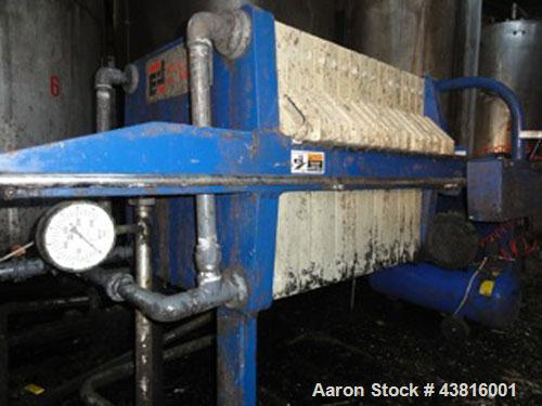 """Used-Edward & Jones 800 G32 Filter Plate Press.  (15) Filter press plates, dimensions 31"""" x 31"""" (800 x 800 mm), can be expan..."""