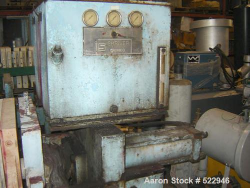 """USED: 24"""" x 24"""" Eimco Shriver filter press, 14 plates, model M630FB.Maximum filtering pressure 225 psi. Maximum thrust 65 to..."""