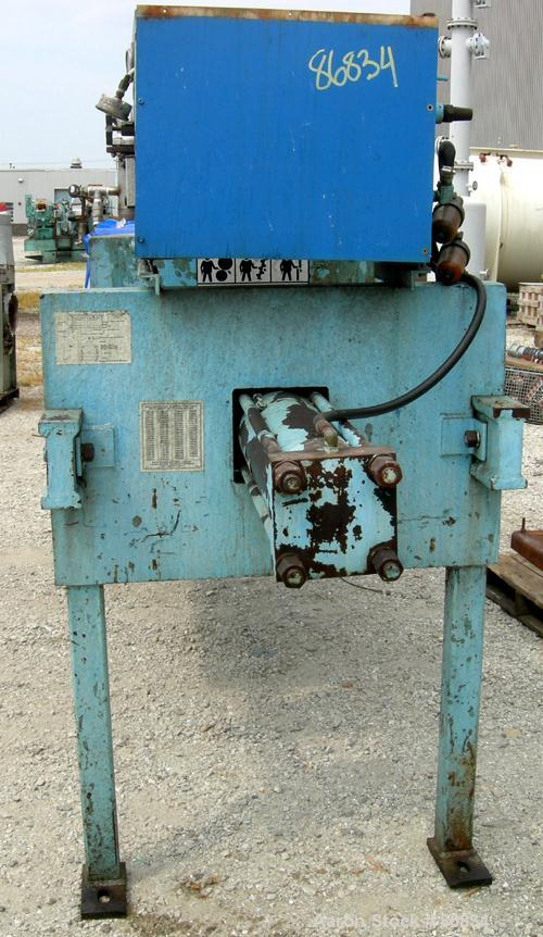 "Used- Eimco Shriver Filter Press, Model M800FB, carbon steel frame. (23) 31.5"" x 31.5"" x 2-1/2"" thick x approximate 1/2"" rec..."