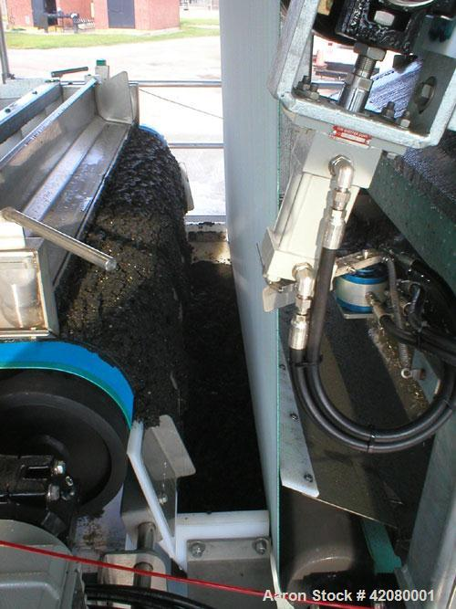 Used- Enviroquip 1.5 Meter Belt Filter Press, Series 3KP, mounted on a trailer.