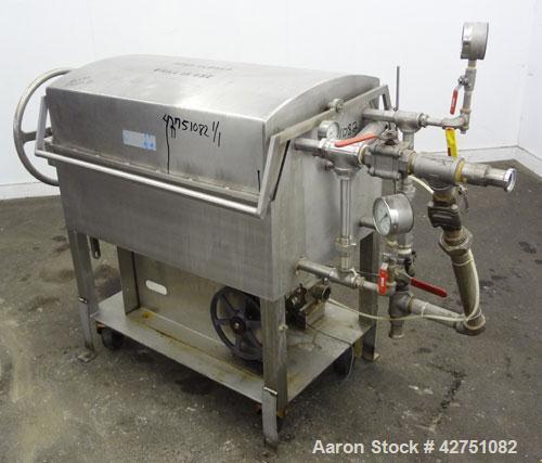 Used- Ertel Vapor-Master Enclosed Plate & Frame Filter Press, Model EUS-O, 316 Stainless Steel. (5) Plates, (6) Frames, (1) ...