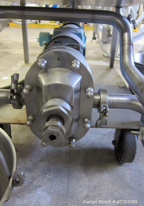 """Used- Ertel Vapor-Master Enclosed Plate & Frame Filter Press, Model EUS-16, 16"""" x 16"""", Stainless Steel. (5) Plates, (4) Fram..."""