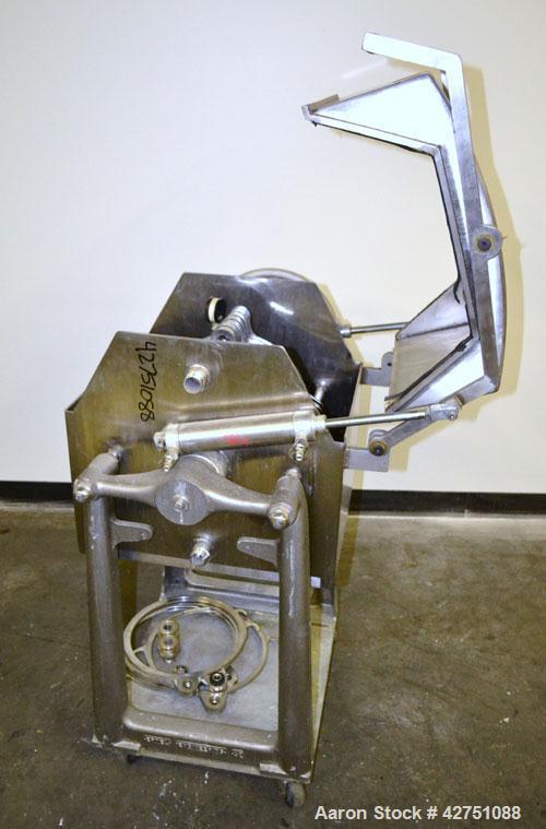 """Used- Ertel Plate & Frame Filter Press, Model EW, 12'' Diameter, 316 Stainless Steel. (6) Plates, (5) Frames, 3/8"""" thick. (1..."""
