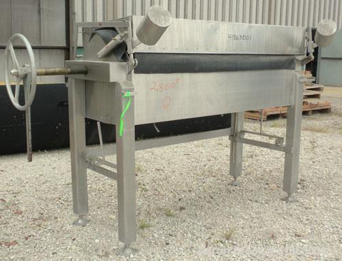 "Used- Ertel/Alsop Vapor-Master Plate And Frame Filter Press, Model L-38, 316 Stainless Steel. 24"" x 24"" plates and frames, (..."