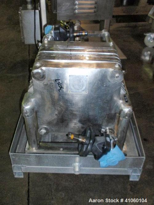 Used- Hercules Filter Corporation Plate and Frame Filter Press, Model 16, Stainless Steel. (10) Approximately 16'' x 16'' pl...