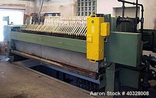"Used-Hoescht 1000/45 Chamber Filter Press. With 45 PP plates, 1000 x 1000 mm (39"" x 39"") plate size, 72 square meter (775 sq..."