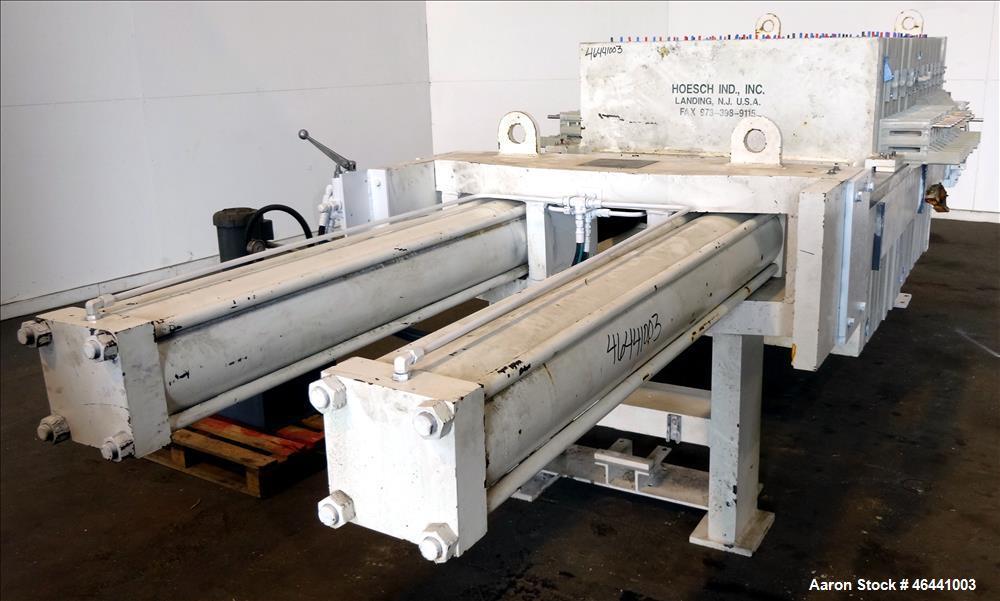 """Used- Hoesch 48"""" Side Bar Filter Press, Model A-48-202.2-D-2-PP-D60-D. (10) 48"""" x 48"""" polypropylene membrane plates. Approxi..."""