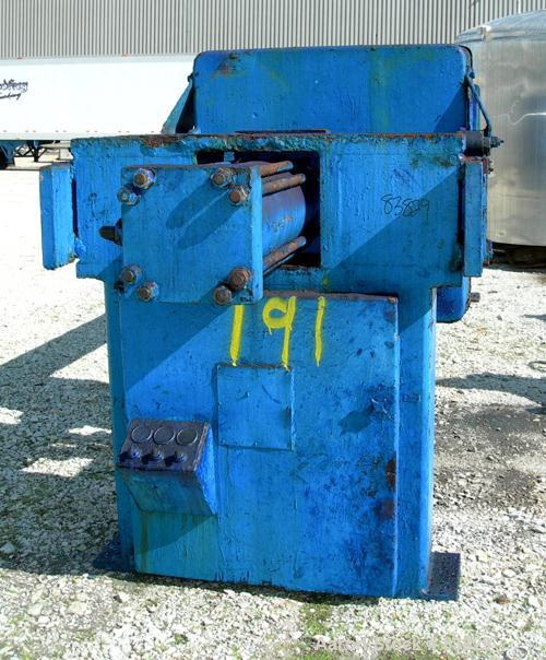 """USED: JWI filter press, carbon steel frame. (83) 48"""" x 48"""" polypropylene plates, approximately 1300 square feet filter area,..."""