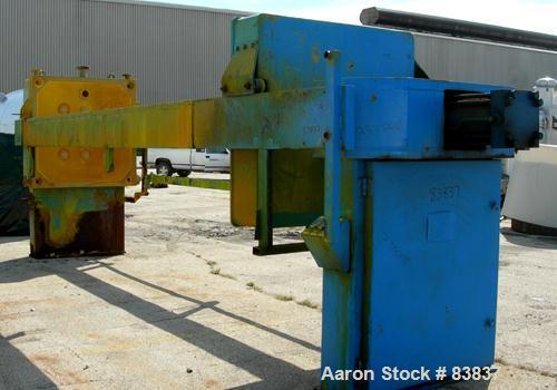Used- Carbon Steel JWI Filter Press, Model 1500mm
