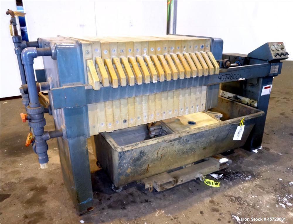 Used- JWI Filter Press, Type J, Model 630-5.