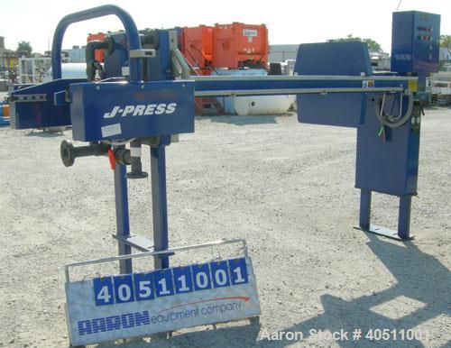 "Used- JWI J Press Filter Press, Model 630G32-29-8SYLW. (29) 25"" x 25"" x 2 1/2"" thick x 1/2"" recess polypropylene plates, (1)..."