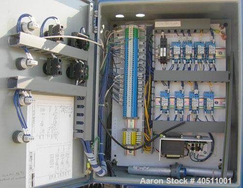 "Used- JWI J Press Filter Press, Model 630G32-29-8SYLW. (29) 25"" x 25"" x 2 1/2"" thick x 1/2"" recess polypropylene plates, (1)..."