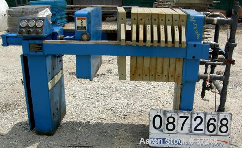 "USED: JWI filter press, type J, model 630G38-6-2DNLS. (7) 630 mm (24 x 24) polypropylene plates, approximate 1/2"" recess. Ap..."