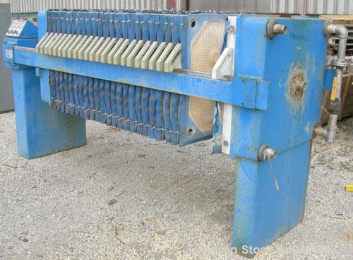 "Used- JWI Filter Press, Model 800G2-23-11.5DA.  (24) 31 1/2"" x 31 1/2"" (800 mm x 800 mm) polypropylene plates, approximate 1..."