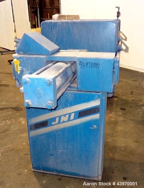 "Used- JWI Filter Press, Model 800G32-16-8DA.  (17) 31-1/2"" x 31-1/2"" (800 mm x 800 mm) polypropylene plates, approximate ½"" ..."