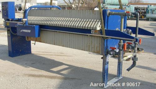 USED: US Filter filter press, model 800G32-39-20SYLW.  (40) 800 mm x 800 mm polypropylene plates. Approximate filter area 41...