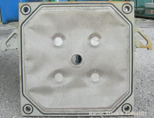 "Used- JWI filter press, model 800G32-23-11/5DA.  (24) 31 1/2"" x 31 1/2"" (800 mm x 800 mm) polypropylene plates, approximate ..."