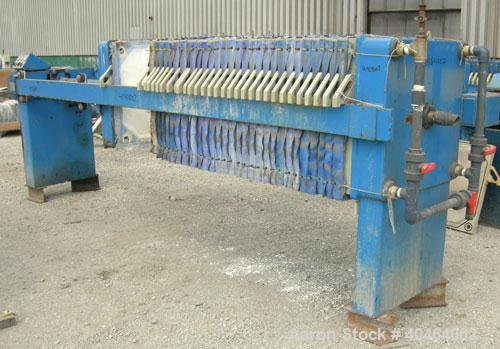 "Used- JWI Filter Press, Model 800G32-30/50-15/25DA.(31) 31 1/2"" x 31 1/2"" (800 mm x 800 mm) polypropylene plates, approximat..."