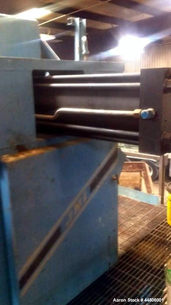 """Used-JWI Plate and Frame Filter Press, Model J Press 1208G32-39/59-50/75SYLS.  48"""" x 48"""" Polyprop, 100 psi feed pressure, 10..."""
